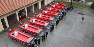 The delivery of the firefighting rescue boats