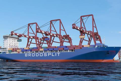 Harbor cranes for container handling