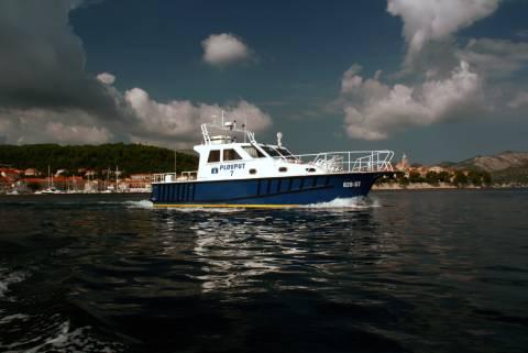 Brzi aluminijski radni brod