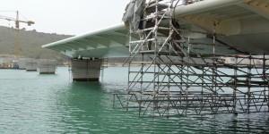 Isporuka segmenata čelične konstrukcije  mosta 'Čiovo'