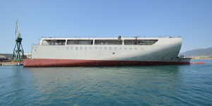 Delivery of mega section for Fincantieri group
