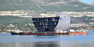 The biggest transport and new delivery of mega section for Fincantieri group