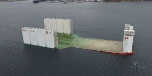Kleven Verft AS delivered one of the largest semi-submersible barges in the world