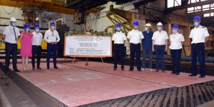 Steel cutting ceremony for coastal patrol ships