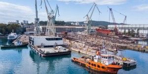 Construction of mega sections for the Fincantieri Group