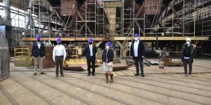 A US military delegation visited Brodosplit