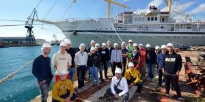 Terenska nastava u strojarnici i na komandnom mostu najvećeg jedrenjaka s križnim jedrima na svijetu