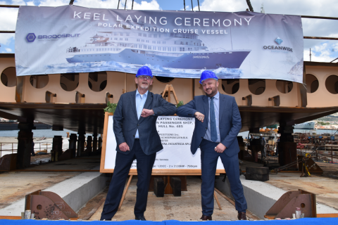 The keel laying ceremony